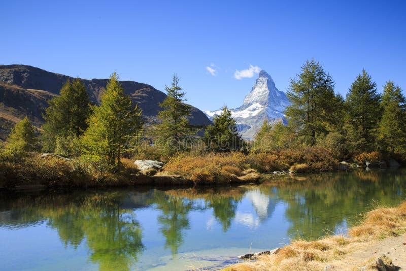 Il Cervino in Zermatt, Svizzera fotografia stock libera da diritti