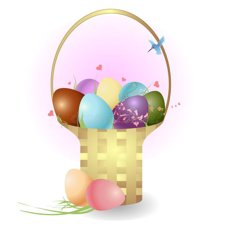 Il cestino con le uova di Pasqua royalty illustrazione gratis