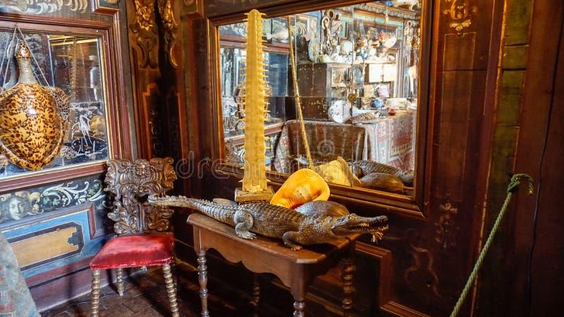 Il Château della stanza di curiosità di Courmatin fotografia stock