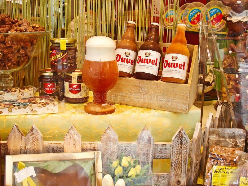 Il chocolateria a Bruges immagine stock libera da diritti