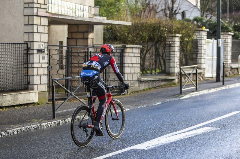 Il ciclista Alessandro De Marchi - 2018 Parigi-piacevole fotografia stock
