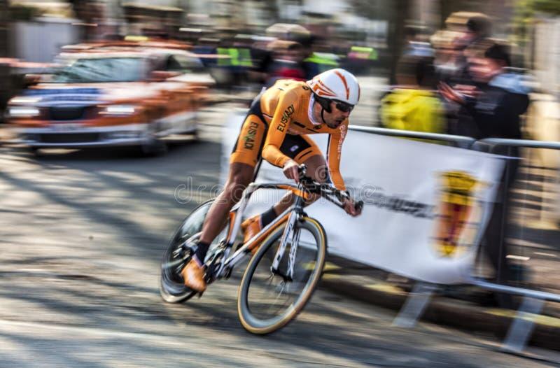 Il Ciclista Astarloza Mikel Parigi Nizza Prolo 2013 Immagine Editoriale