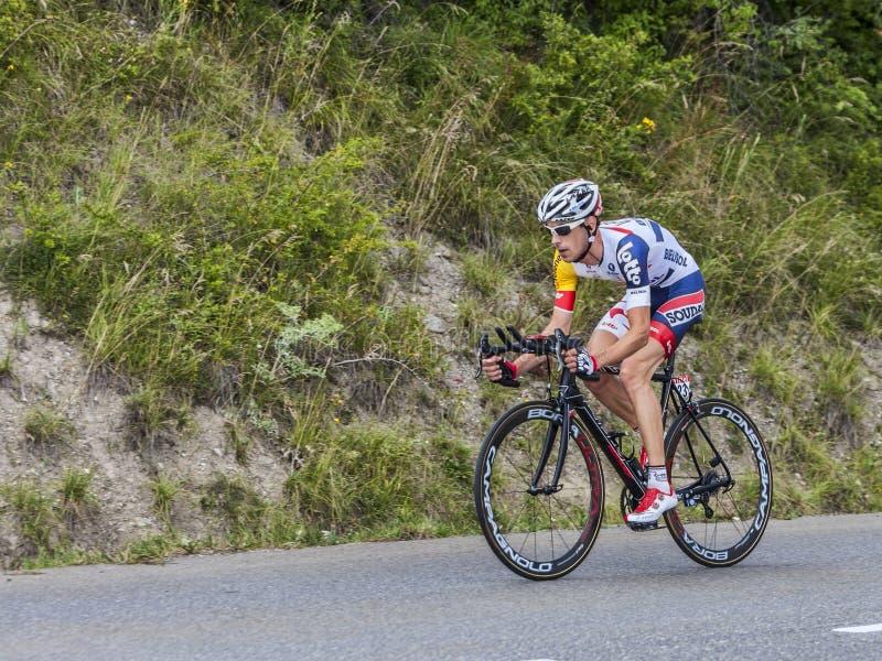 Il ciclista Bart De Clercq fotografie stock libere da diritti