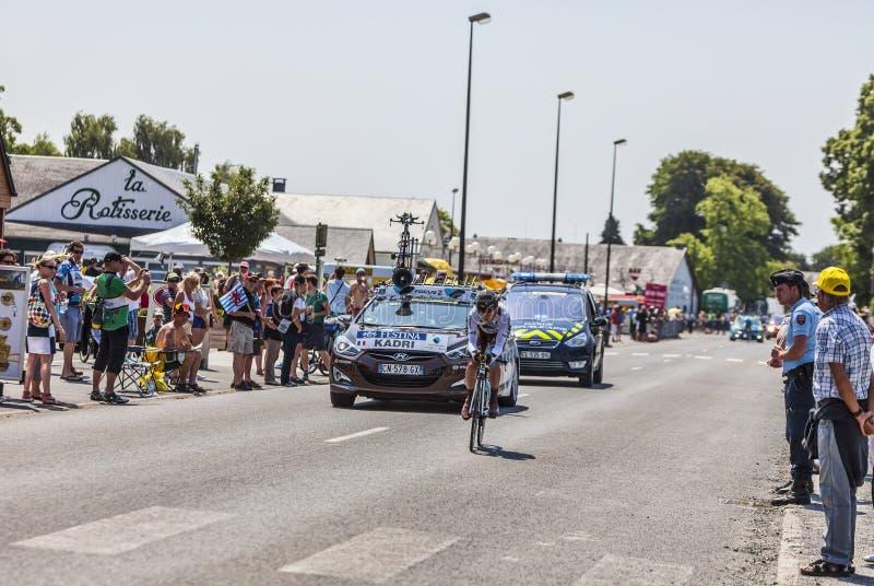 Il ciclista Blel Kadri immagini stock
