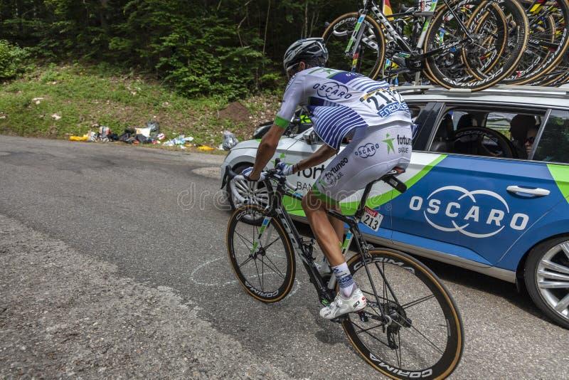 Il ciclista Brice Feillu - Tour de France 2017 immagine stock libera da diritti