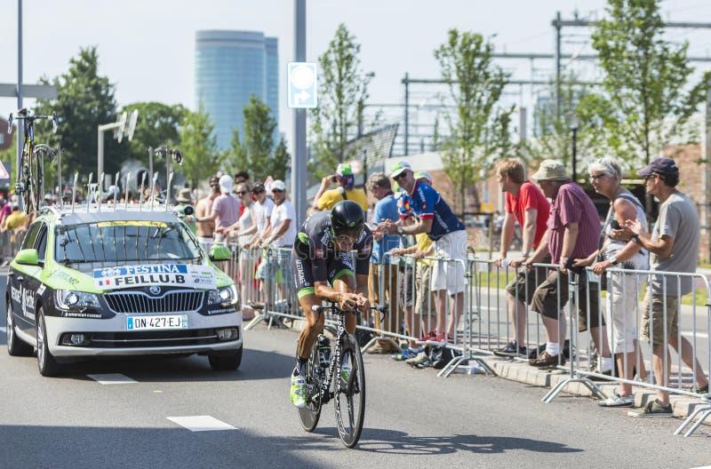 Il ciclista Brice Feillu - Tour de France 2015 fotografia stock libera da diritti
