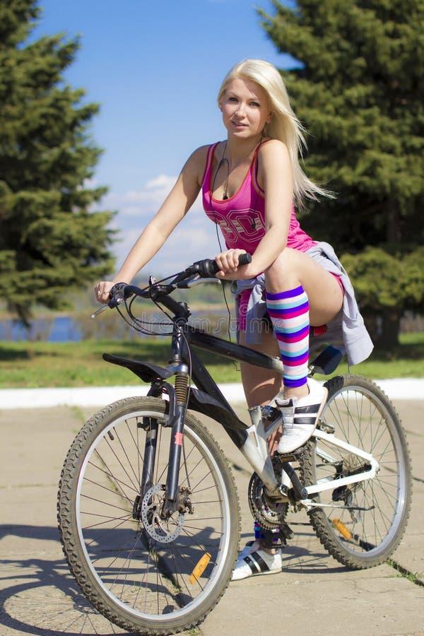 Il ciclista fine fotografia stock