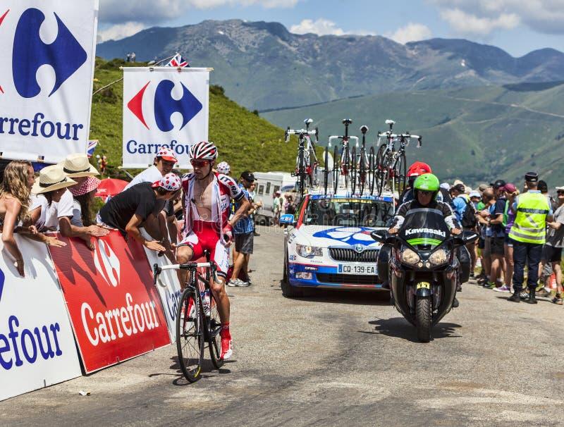 Il ciclista Gatis Smukulis immagini stock