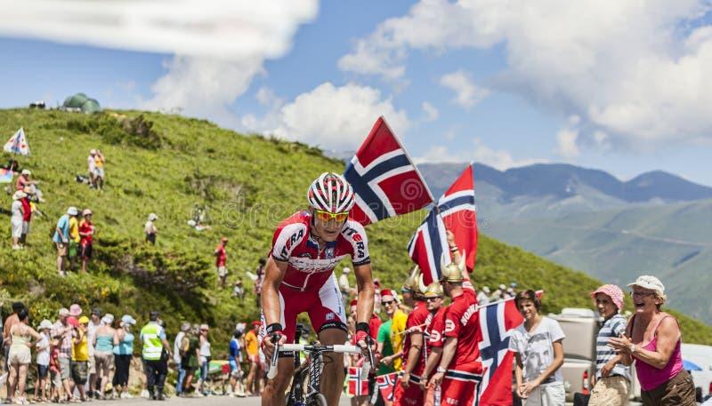 Il ciclista Gatis Smukulis immagine stock