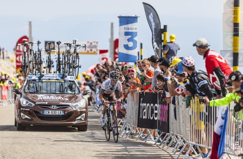 Il ciclista John Gadret immagini stock