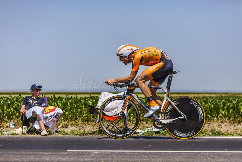 Il Ciclista Juan Jose Oroz Ugalde Fotografia Stock Editoriale