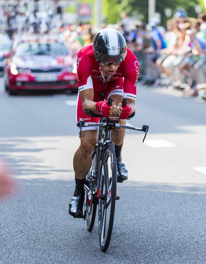 Il ciclista Julien Simon - Tour de France 2015 fotografia stock