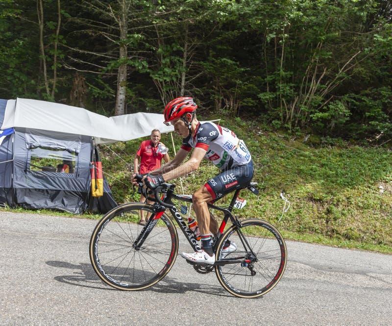 Il ciclista Louis Meintjes - Tour de France 2017 immagine stock libera da diritti