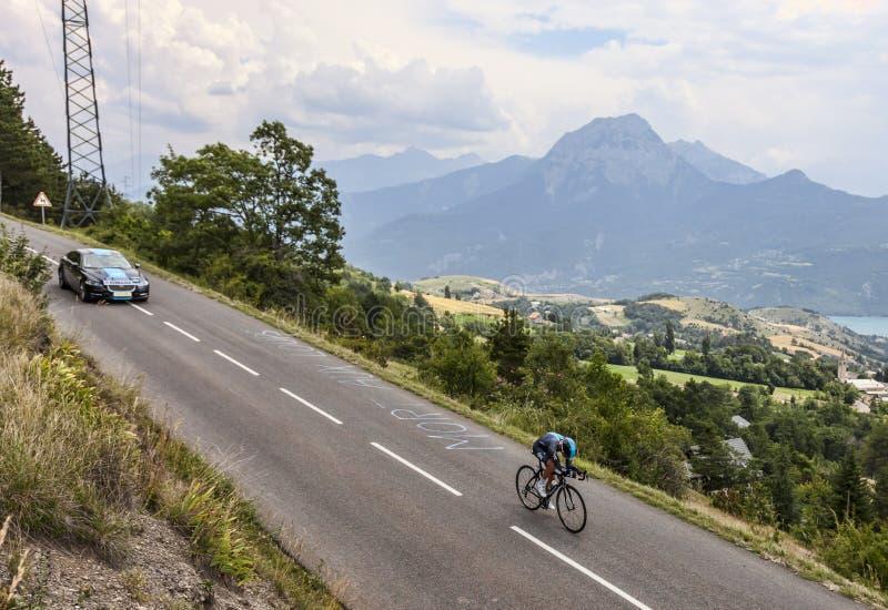 Il ciclista Peter Kennaugh fotografie stock libere da diritti