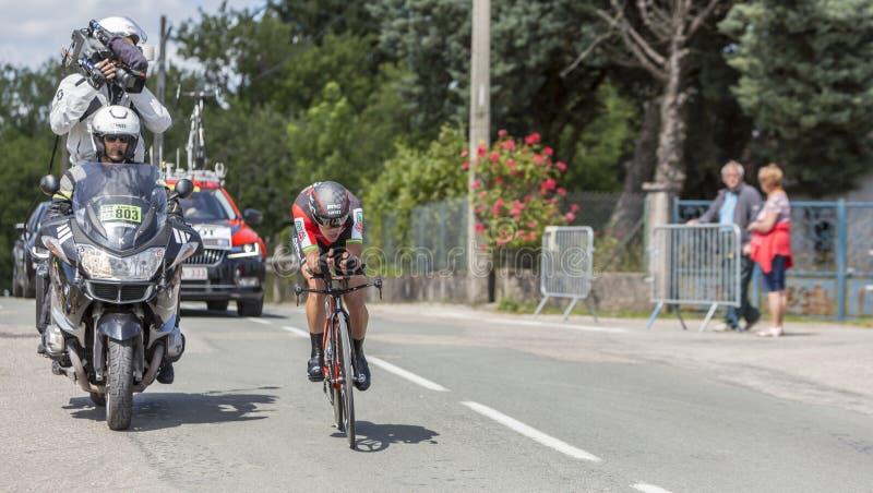 Il ciclista Richie Porte - Criterium du Dauphine 2017 fotografie stock libere da diritti