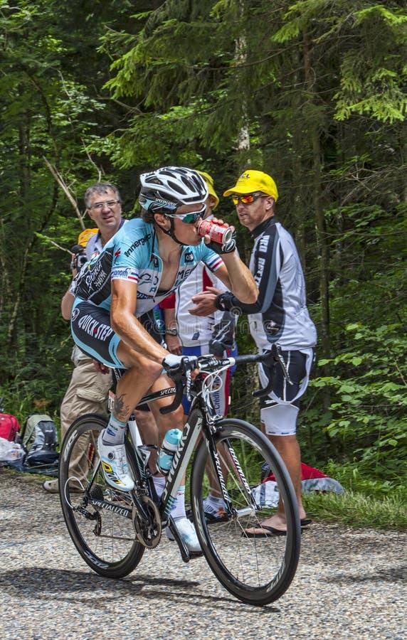 Il ciclista Sylvain Chavanel- Col du Granier 2012