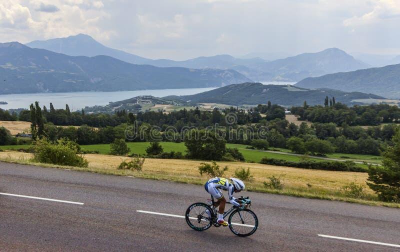 Il ciclista Thomas De Gendt immagini stock