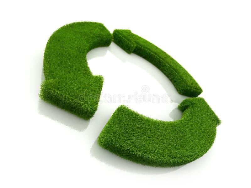 Il ciclo ricicla il simbolo dell'erba royalty illustrazione gratis