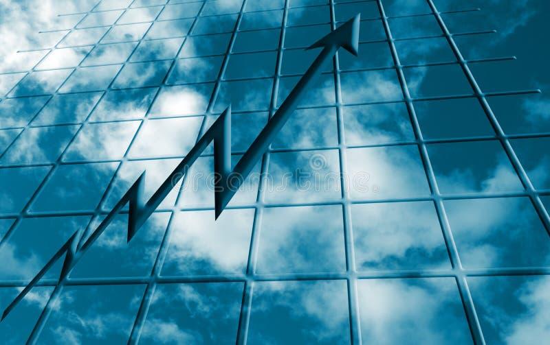 Il cielo è il limite illustrazione di stock