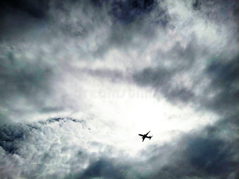 Il cielo è il limite dell'aereo immagine stock