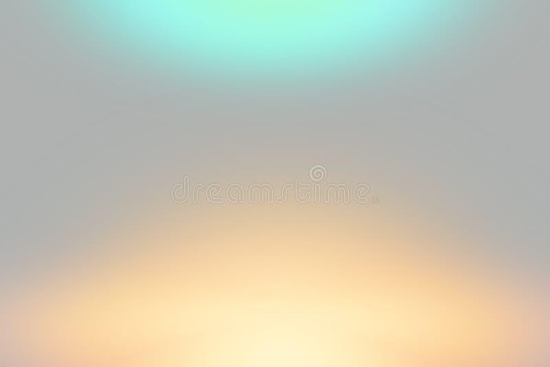 Il cielo blu e la luce arancio su stile morbido grigio sottraggono il fondo illustrazione vettoriale