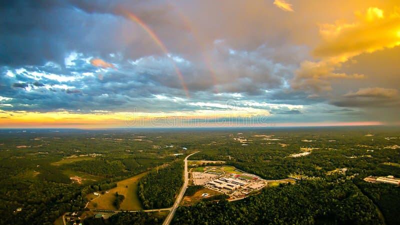 Il cielo ed il tramonto delle nuvole abbelliscono sopra York Carolina del Sud fotografia stock libera da diritti