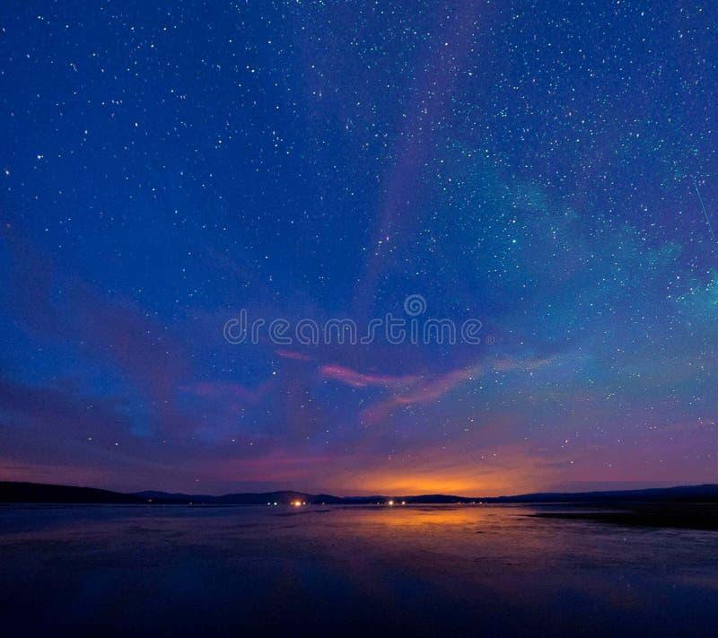 Il cielo nella notte fotografia stock