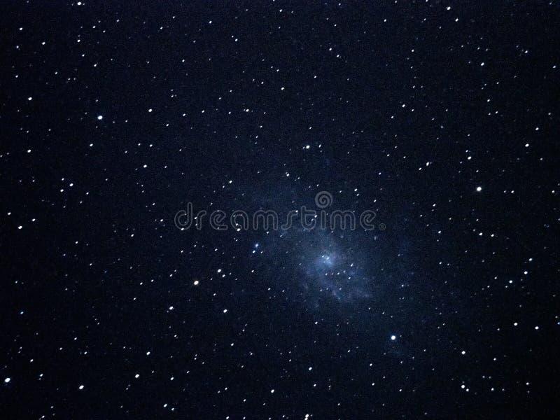 Il cielo notturno stars la galassia M33 di triangulum immagini stock libere da diritti