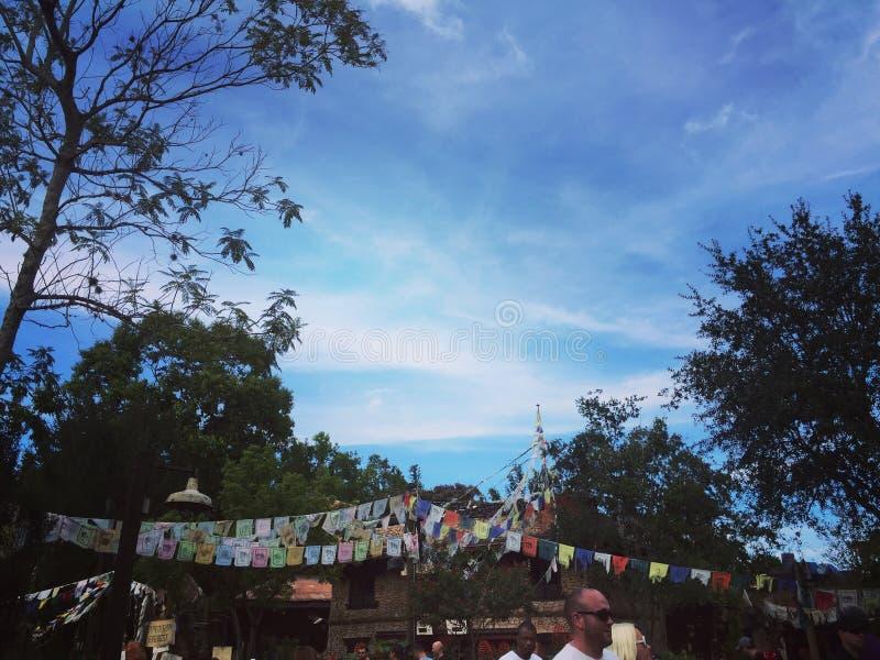 Il cielo/preghiera di regno animale inbandiera Walt Disney World immagine stock libera da diritti