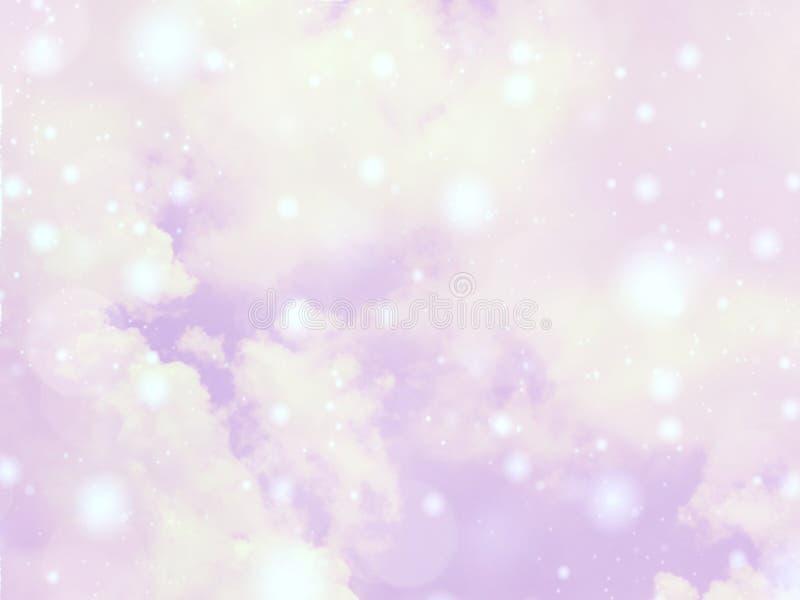 Il cielo variopinto vago del fondo con il chiarore lucent bianco accende confuso fotografie stock
