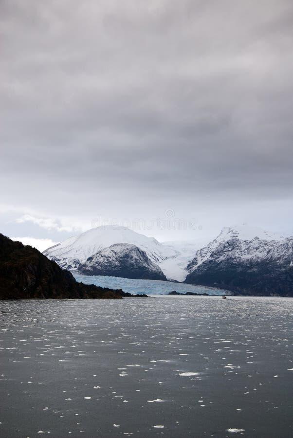 Il Cile - Amalia Glacier Landscape fotografia stock