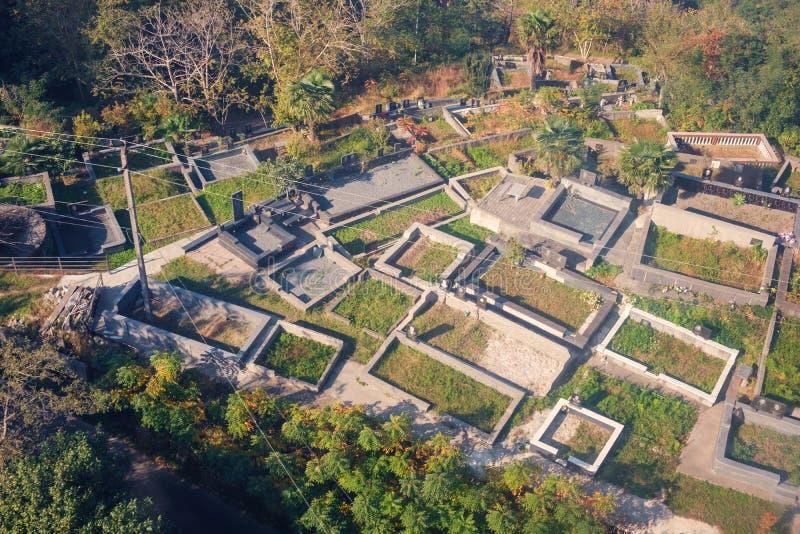Il cimitero del villaggio fotografia stock