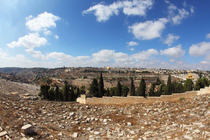 Il cimitero ebreo antico fotografia stock