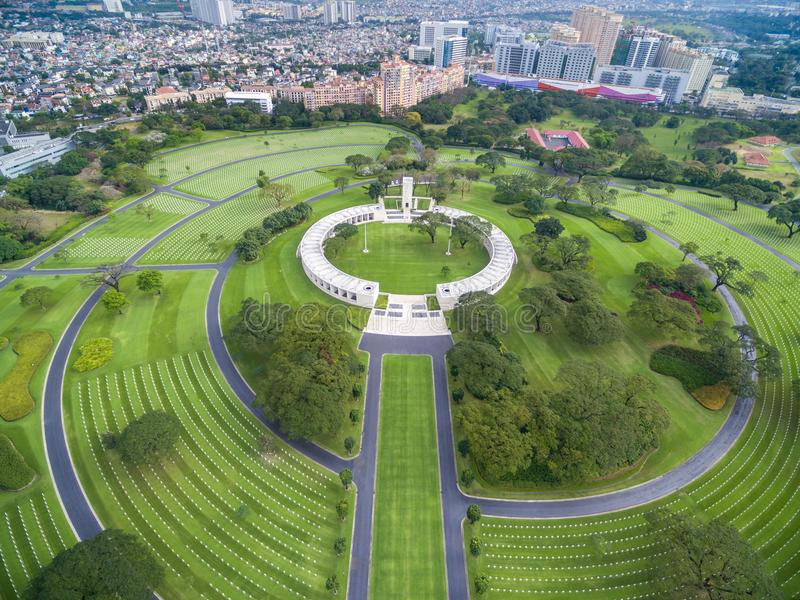 Il cimitero ed il memoriale americani di Manila Situato in Fort Bonifacio, città di Taguig, metropolitana Manila Ha il più grande fotografie stock