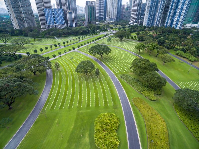 Il cimitero ed il memoriale americani di Manila Situato in Fort Bonifacio, città di Taguig, metropolitana Manila Ha il più grande fotografia stock