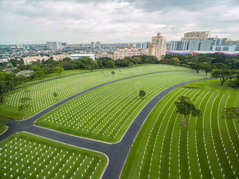 Il cimitero ed il memoriale americani di Manila Situato in Fort Bonifacio, città di Taguig, metropolitana Manila Ha il più grande immagine stock
