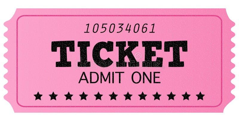 Il cinematografo rosa retro ammette un biglietto royalty illustrazione gratis