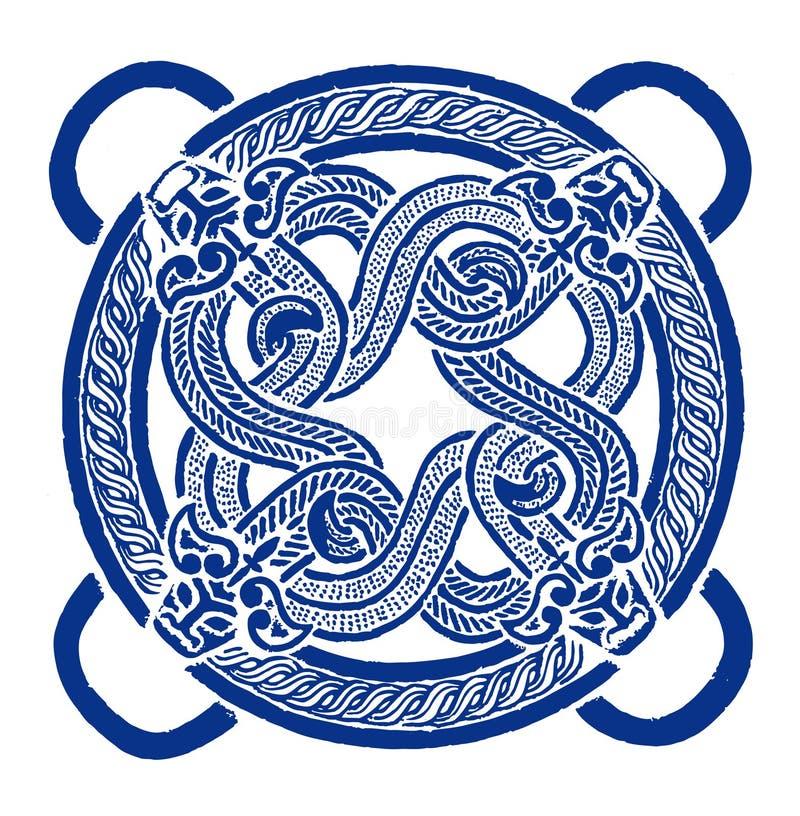 Il cinese Documento-ha tagliato dell'anno del drago illustrazione di stock