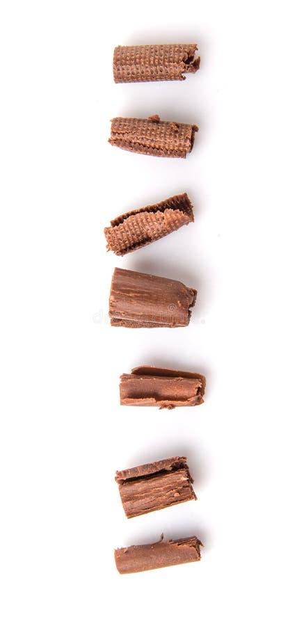 Download Il cioccolato arriccia III fotografia stock. Immagine di nutriente - 56886762