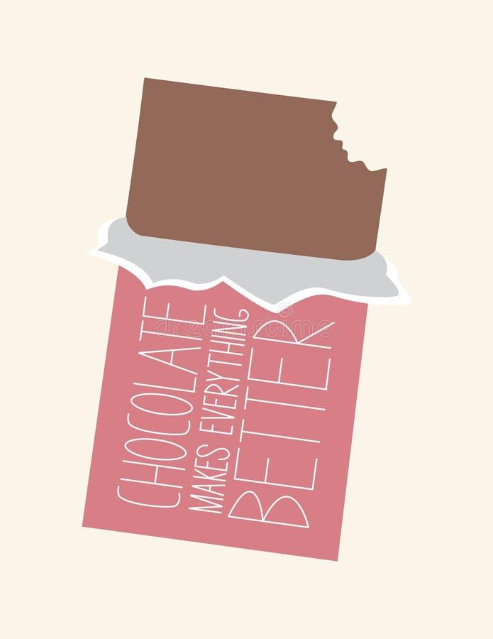 Il cioccolato rende tutto migliore immagine stock