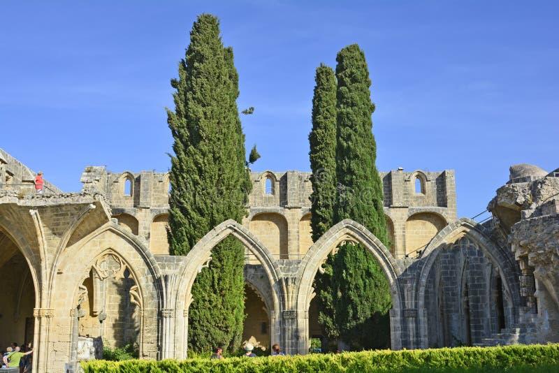 Il Cipro, abbazia di Bellapais fotografia stock libera da diritti