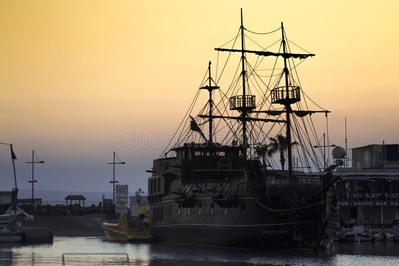 Il Cipro l'isola della nave del mare da 2018 estati fotografia stock