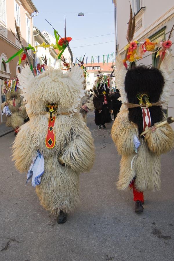 Il cittadino sloveno maschera il dancing kurent del ` del ` fotografia stock