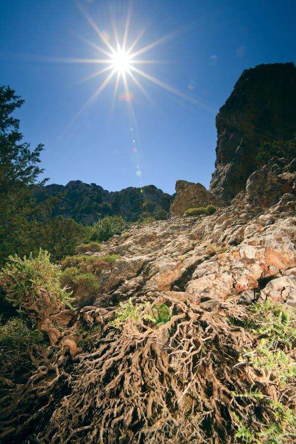 Il cleft di Imbros sull'isola Crete, Grecia fotografie stock libere da diritti