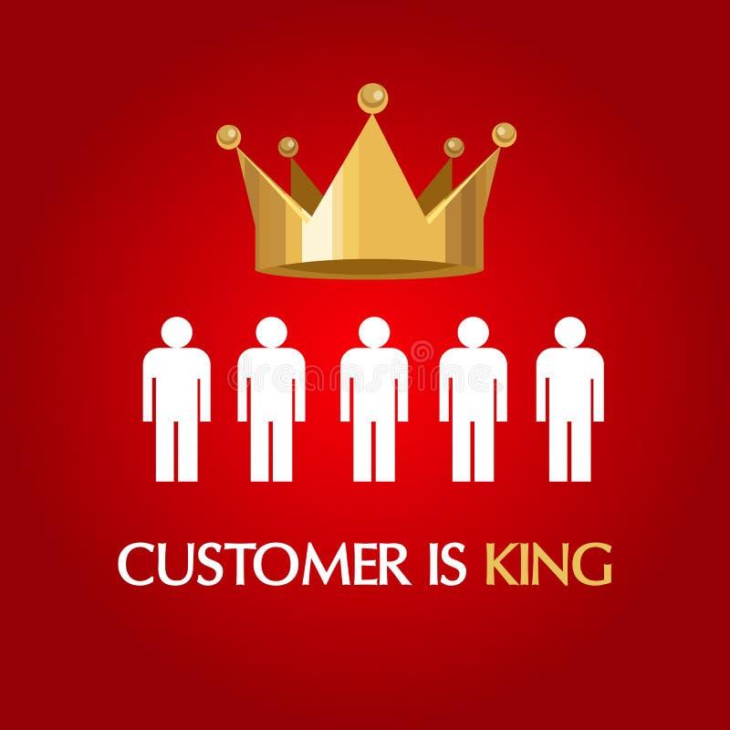 Il cliente è regina dell'utente del consumatore di re royalty illustrazione gratis