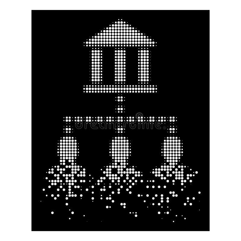 Il cliente di semitono della costruzione della Banca del pixel bianco della polvere collega l'icona illustrazione di stock