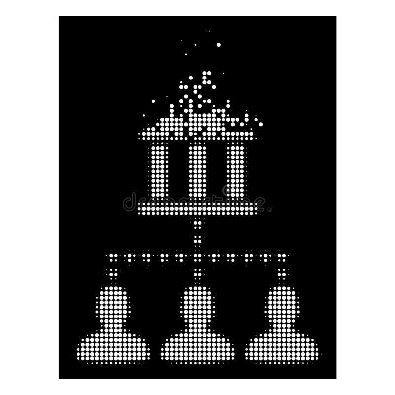 Il cliente di semitono punteggiato tagliuzzato intelligente della costruzione della Banca collega l'icona royalty illustrazione gratis
