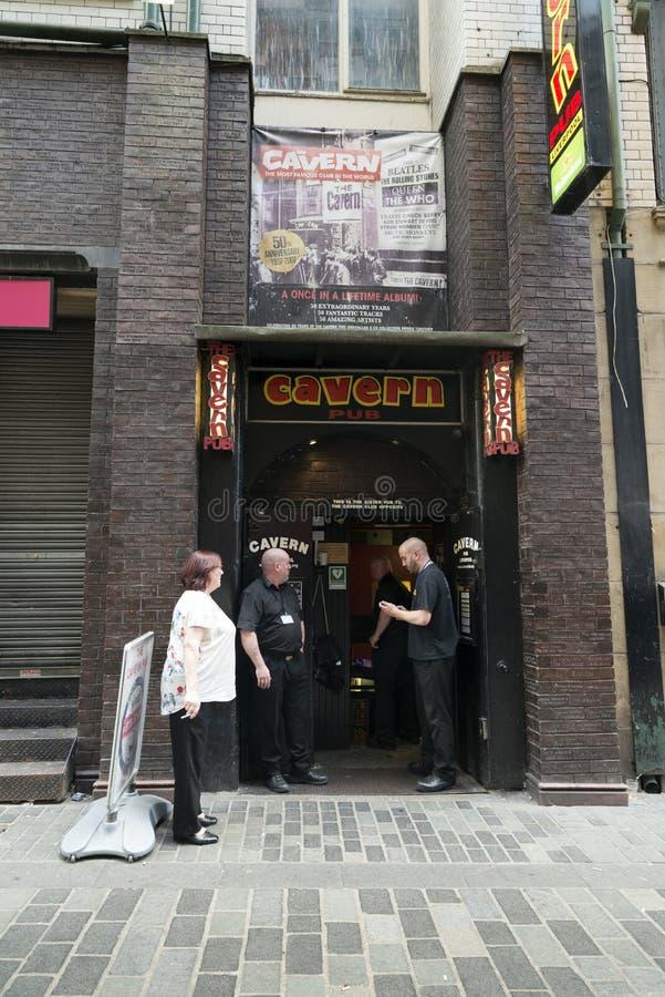 Il club della caverna a Liverpool Mathew Street immagine stock libera da diritti