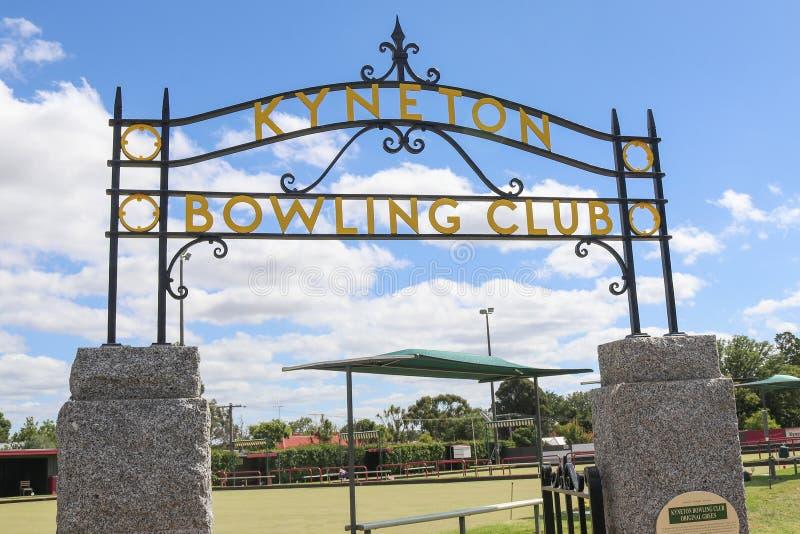 Il club 1876 di bowling di Kyneton è il club di bowling più anziano nello stato di Victoria funzionare continuamente sullo stesso immagine stock libera da diritti