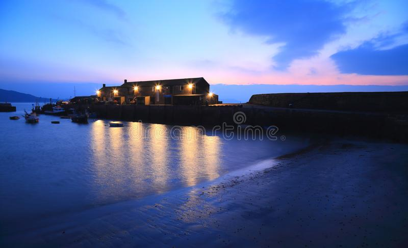 Il Cobb in Lyme Regis fotografie stock libere da diritti